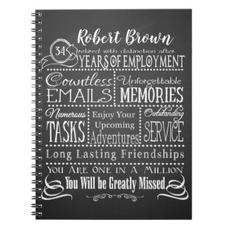 Personalized Retirement Notebook add name