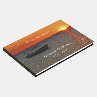 Personalized Retirement Party Book, Fishing Boat Guest Book