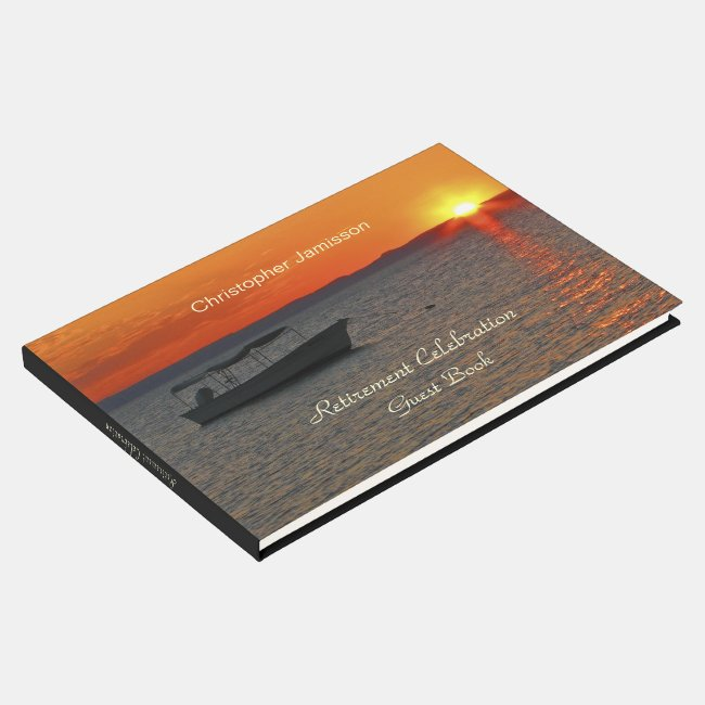 Personalized Retirement Party Book, Fishing Boat