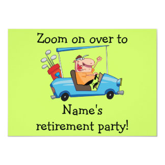 Personalized Retirement Party Inviation, Golf Cart Card