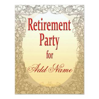 """Personalized Retirement Party Invitation 4.25"""" X 5.5"""" Invitation Card"""