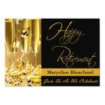"""Personalized Retirement Party Invitation 5"""" X 7"""" Invitation Card"""