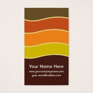 Personalized Retro 70s Business Cards