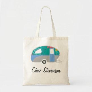 Personalized Retro Art Caravan Owners Canvas Bags