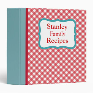 Personalized Retro Family Recipe Binder Gift