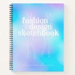 Personalized Retro Fashion Design Sketchbook Notebook