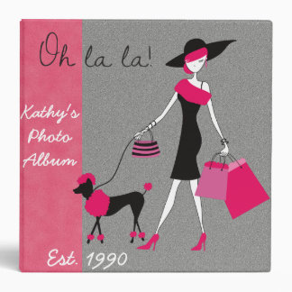 Personalized Retro Girly Custom Photo Album 3 Ring Binder
