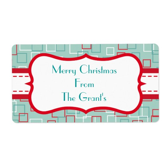 Personalized Retro Holiday Labels