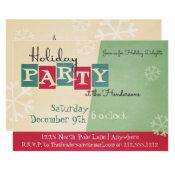 Personalized Retro Holiday Party Invitation