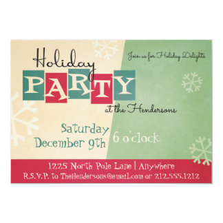 Personalized Retro Holiday Party Invitation