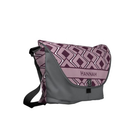 Personalized Retro Lily and Black Rose Diamonds Small Messenger Bag