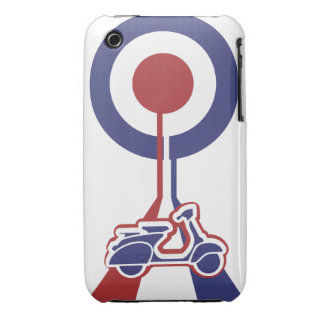 Personalized Retro look scooter mod target design iPhone 3 Case