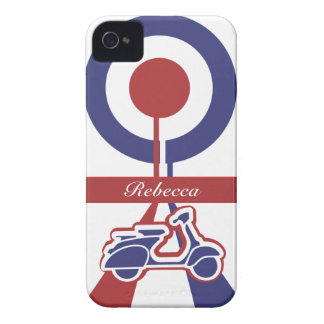 Personalized Retro look scooter mod target design iPhone 4 Case-Mate Case