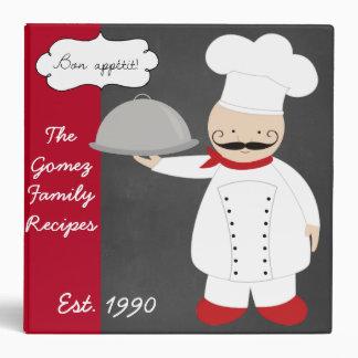 Personalized Retro Modern Chef Recipe Binder