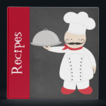 """Personalized Retro Modern Chef Recipe Binder<br><div class=""""desc"""">This is an awesome retro chef recipe binder that you can customize. Give this as a gift for your mom,  grandma,  dad or grandpa,  son or daughter. It makes an awesome present for the chef in your life.</div>"""