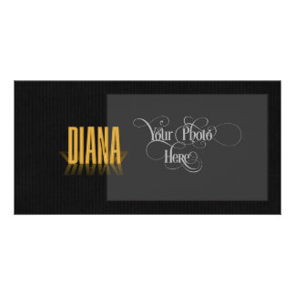 Personalized Retro Movie Poster Diana Gold Photo Card