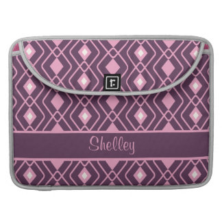 Personalized Retro Pink and Purple Diamond Design Sleeves For MacBook Pro
