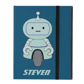 Personalized Retro Robot Illustration iPad Covers
