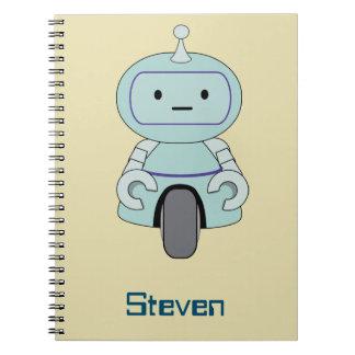 Personalized Retro Robot Illustration Notebook