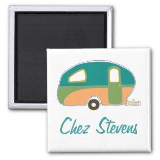 Personalized Retro Vintage Caravan Design Magnets