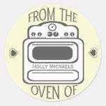 Personalized Retro White  Oven Sticker
