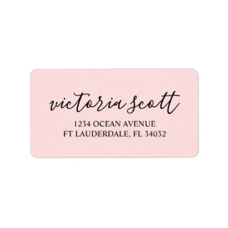Personalized Return Address Labels | Modern Pink