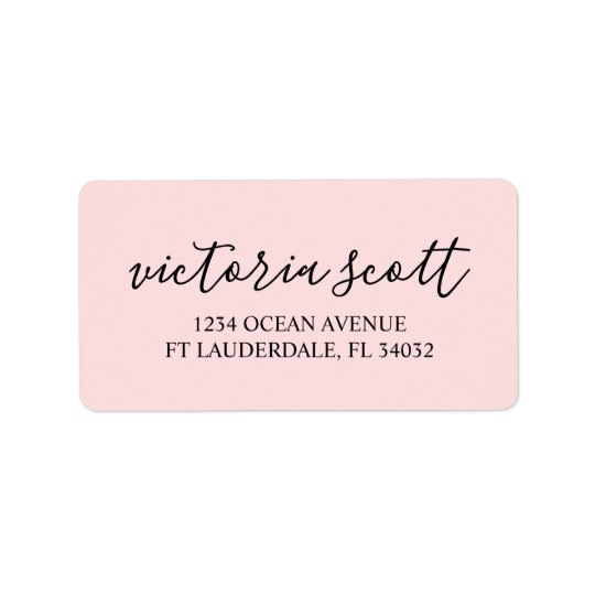 personalized return address labels modern pink zazzle com