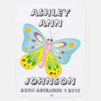 Personalized Reversible Blanket With Butterfly