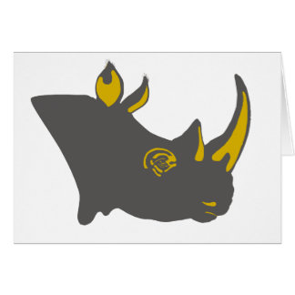 Personalized Rhino Graphic Illustration Card