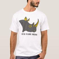 Personalized Rhino Graphic Illustration T-Shirt