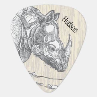 Personalized Rhinoceros Guitar Pick