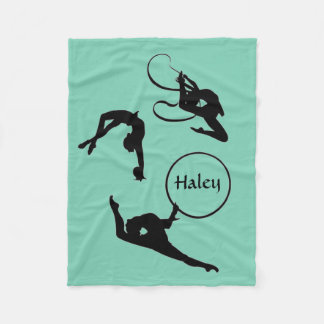 Personalized Rhythmic Gymnastics fleece blanket