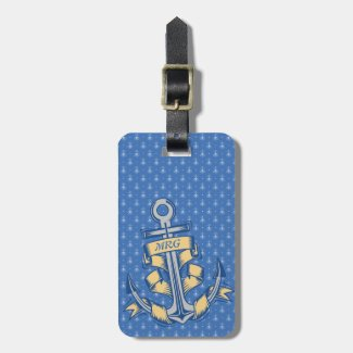 Personalized Ribbon Anchor Tags For Bags