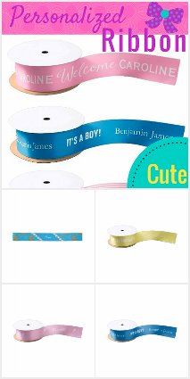 Personalized Ribbon for Your Baby Shower