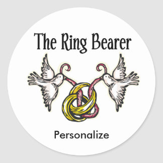 Personalized Ring Bearer Gifts Classic Round Sticker