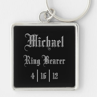 Personalized Ring Bearer Keychain
