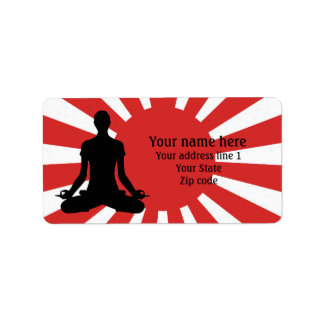 Personalized Rising Sun Yoga 4 meditation Address Label