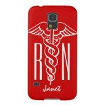 Personalized RN Nurse Galaxy S5 cover | caduceus