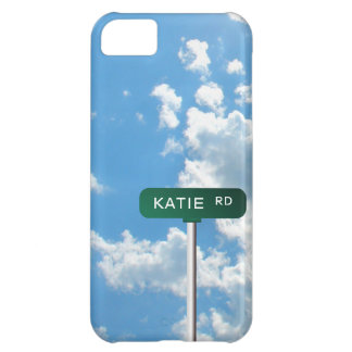 Personalized Road Name Street Sign on Blue Sky iPhone 5C Covers