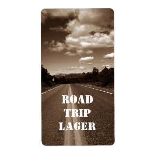 Personalized Road Trip Lager Homebrew Custom Label