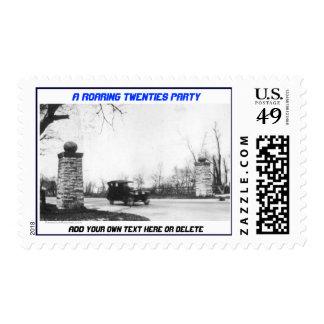 Personalized Roaring Twenties Theme Postage