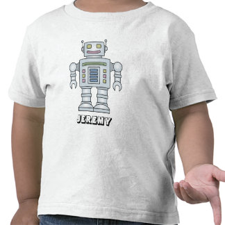 Personalized robot cartoon t shirt for little boy