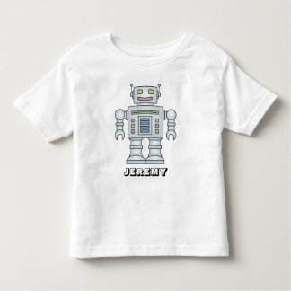 Personalized robot cartoon t shirt for little boy