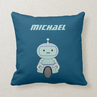 Personalized Robot Illustration Pillow