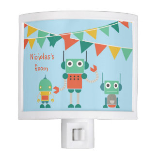 Personalized Robot Party Night Light