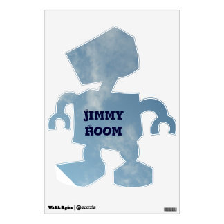 Personalized Robot Wall Decal