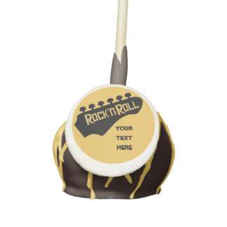 Personalized Rock and Roll Guitar Cake Pops