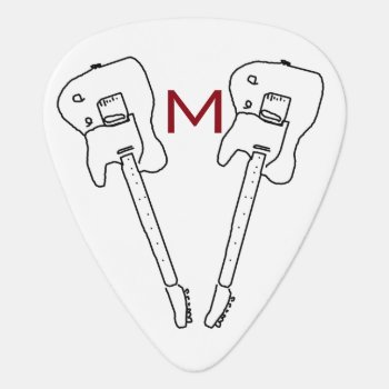 Personalized Rock Music Guitar-pick Guitar Pick by mixedworld at Zazzle