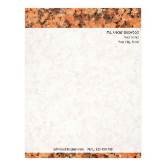 Personalized Rock Texture with Return Address Letterhead