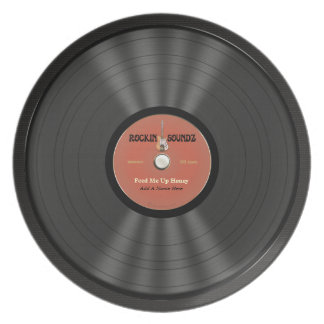 Personalized Rock Vinyl Record Melamine Plate